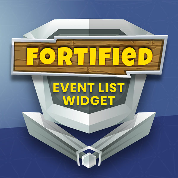Fortified Fortnite Event List widget for Streamlabs