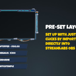 Electrolyte Animated Twitch Stream Overlay Preset- Modular Designed for Twitch, Mixer, Youtube Gaming using Streamlabs OBS